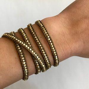 Chan Luu Yellow Gold 5 Wrap Bracelet